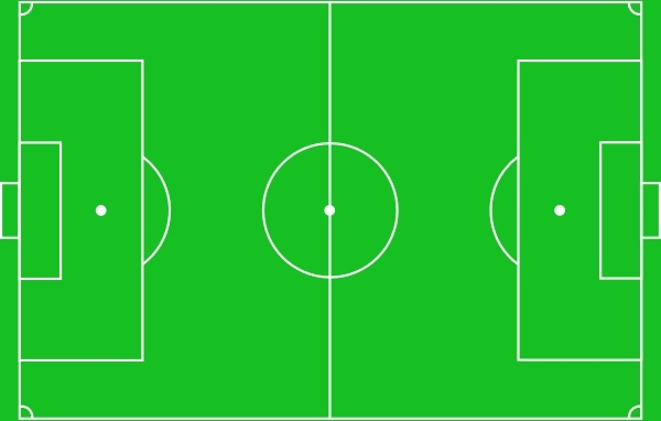 Football Pitch clip art Free vector in Open office drawing.