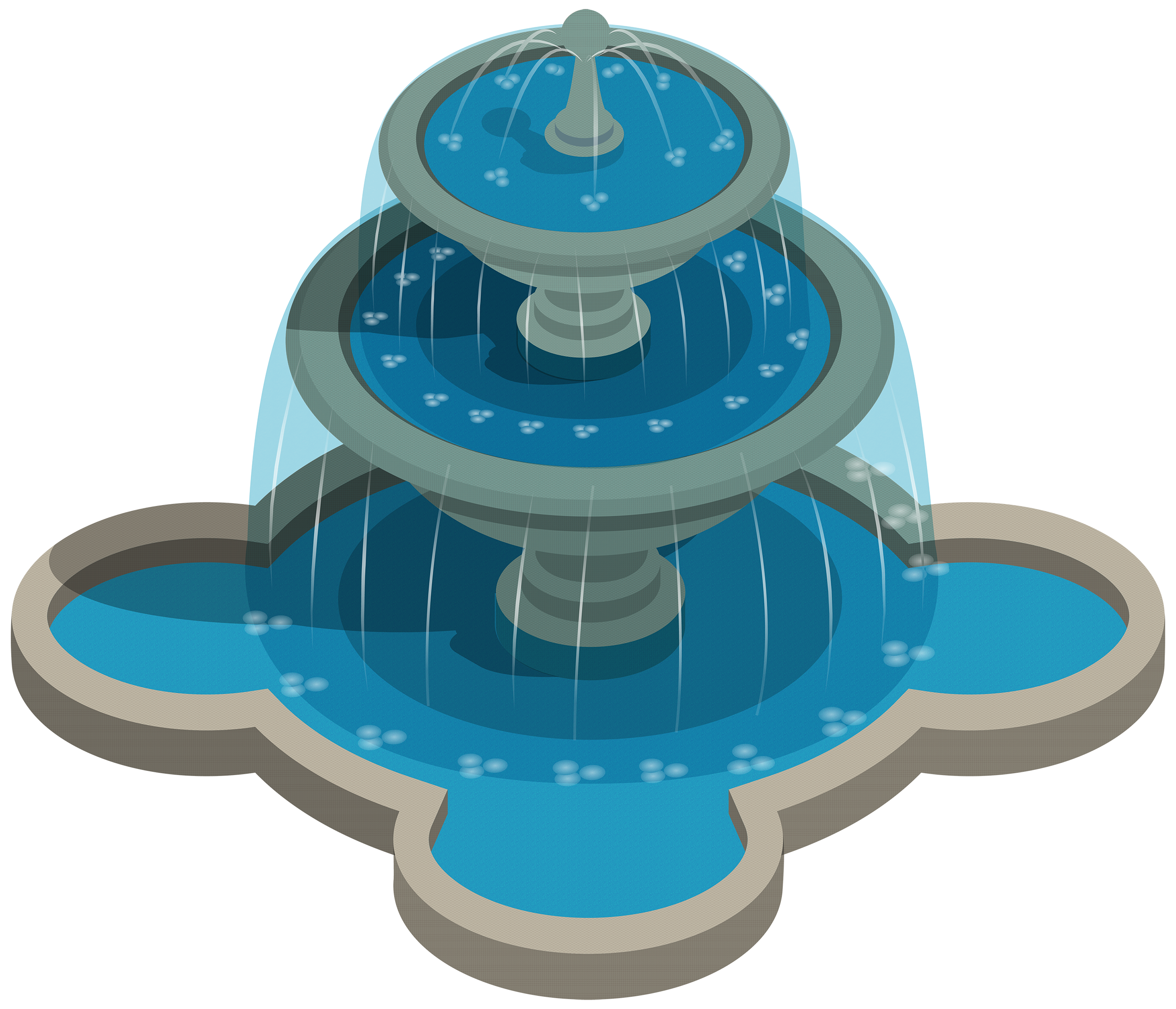 Water Fountain PNG Clipart.