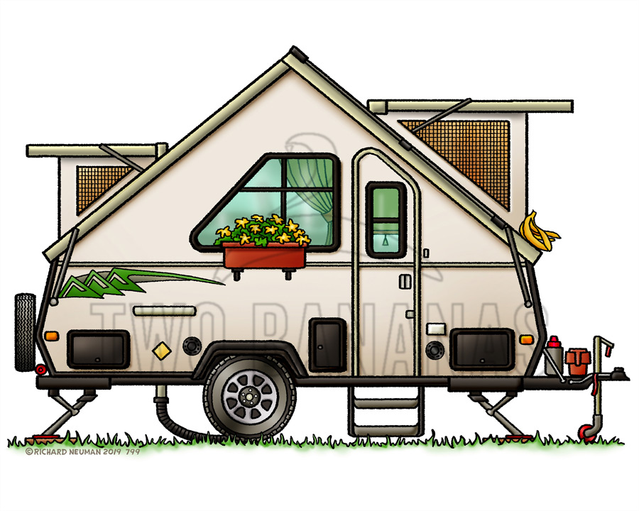 Whimsical Pop Up Camper Personalized Gifts.