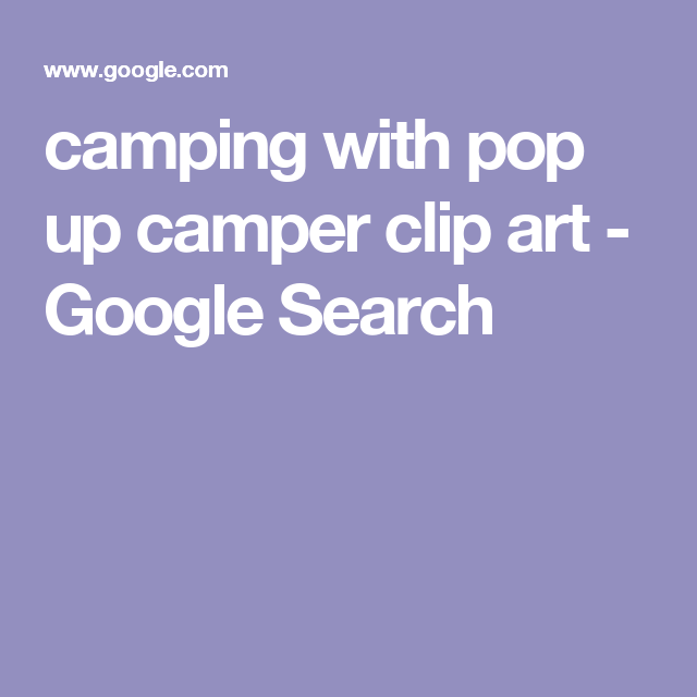 camping with pop up camper clip art.