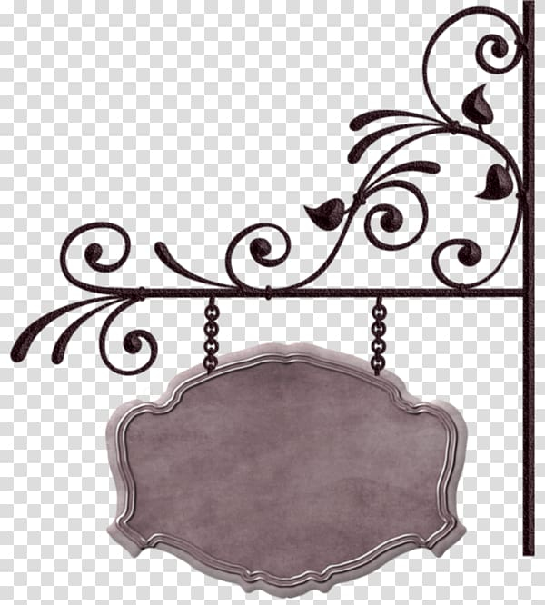 Gray and black metal pendant signage, Banner Sign, Iron.