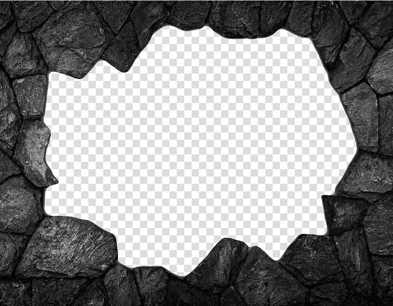 Gray rocks illustration frame, Stone wall Brick , Stone wall.