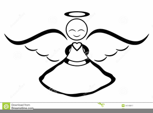 Free Black Angels Clipart.
