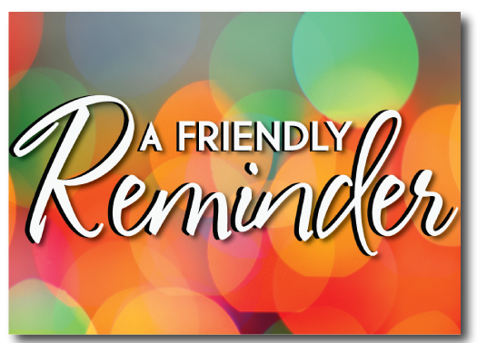 Friendly reminder clipart 4 » Clipart Station.