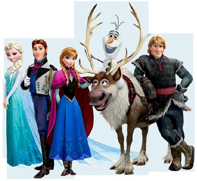 Disney Frozen Christmas Clipart.