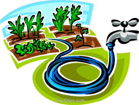 garden hose Royalty Free Vector Clip Art illustration.