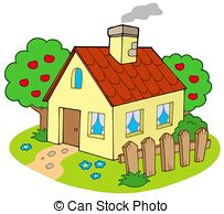 House With Garden Clipart.
