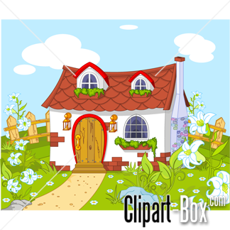House With Garden Clipart Images.