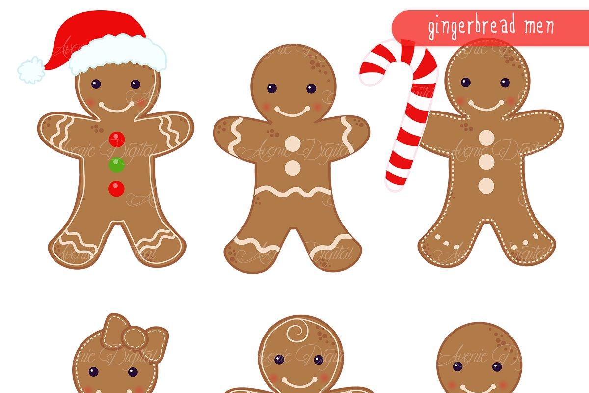 Gingerbread men Clipart and Vectors.