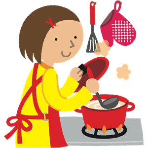 Woman Cooking clipart, cliparts of Woman Cooking free.