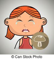 Clip Art of Cry Baby Girl.