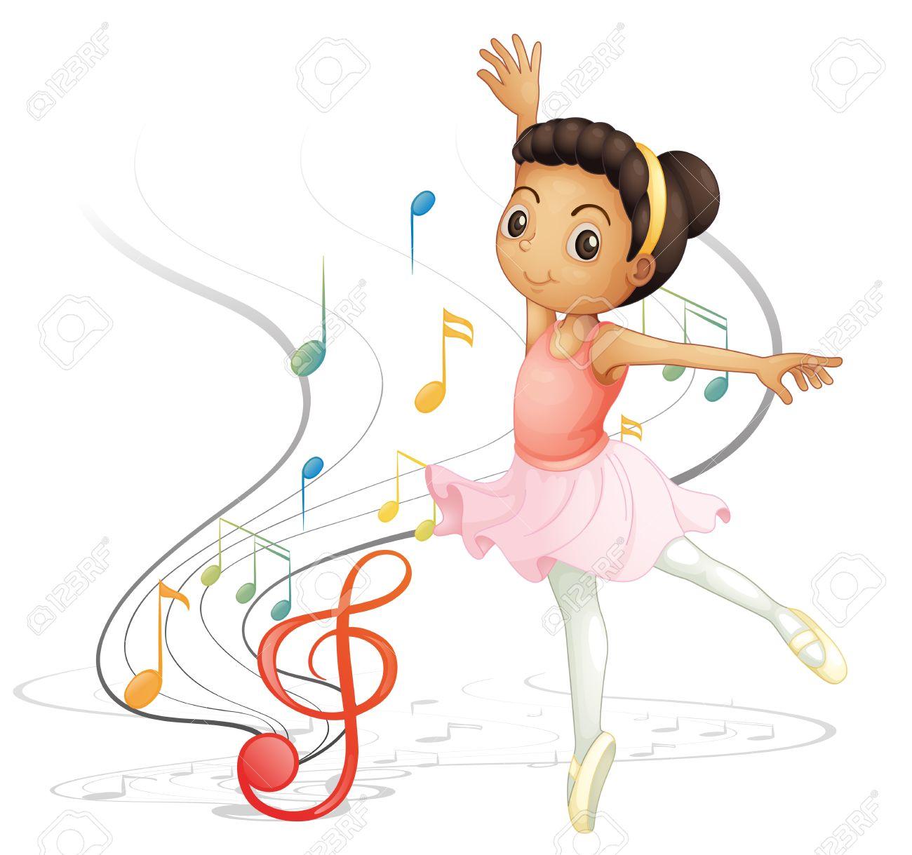 A Girl Dancing Clipart.