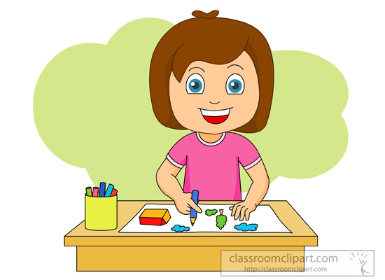 Girl Drawing Clipart.