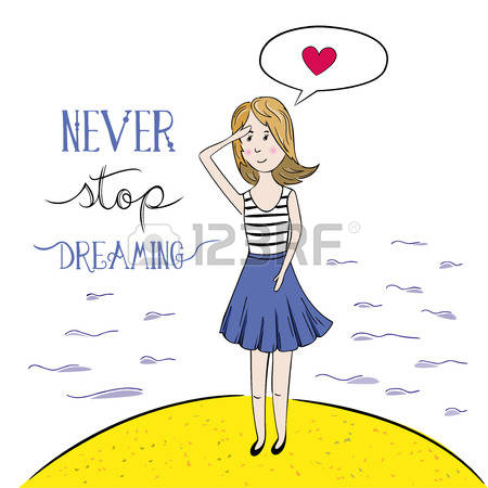 1,487 Woman Dreaming Stock Vector Illustration And Royalty Free.