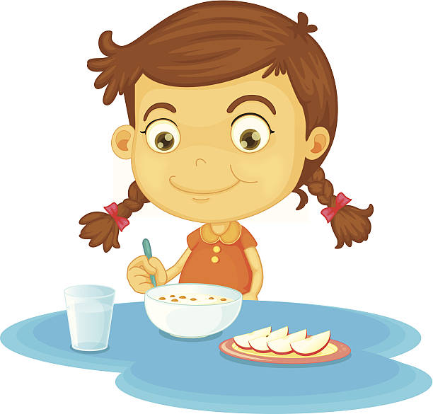 1015 Eating Breakfast free clipart.