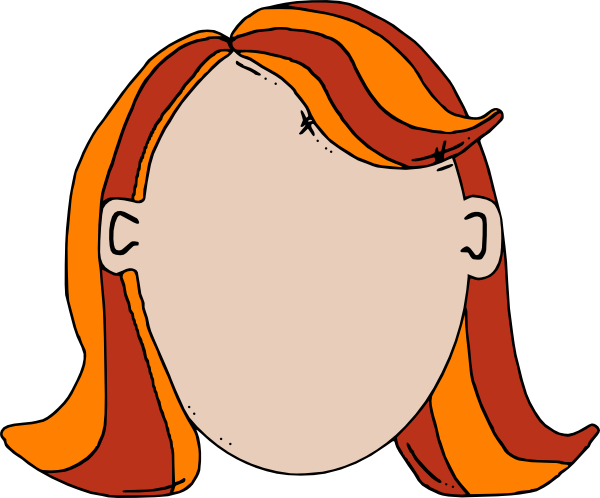 Blank Face Teen Girl Cartoon Clip Art at Clker.com.
