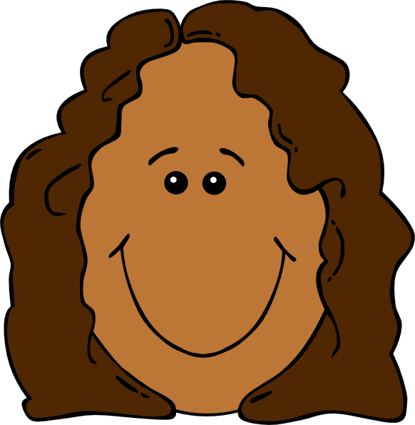 Cartoon Girl Face Clipart.