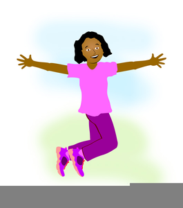 Clipart Girl Jumping.