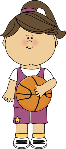 Girl Basketball Player Clip Art.