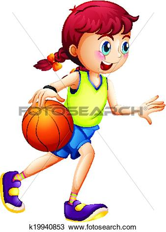Basketball girl Clipart and Illustration. 844 basketball girl clip.