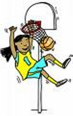 Girls Basketball Clipart.