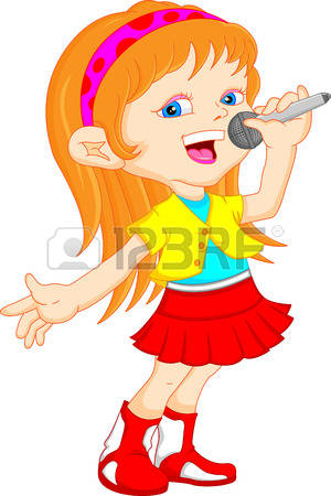 1,967 Singing Girl Stock Vector Illustration And Royalty Free.