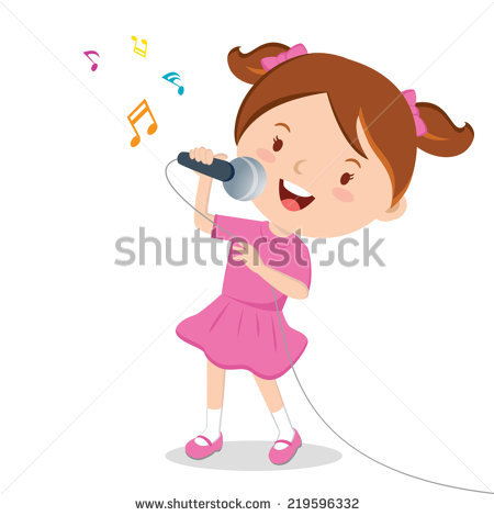 Girl Singing Stock Images, Royalty.