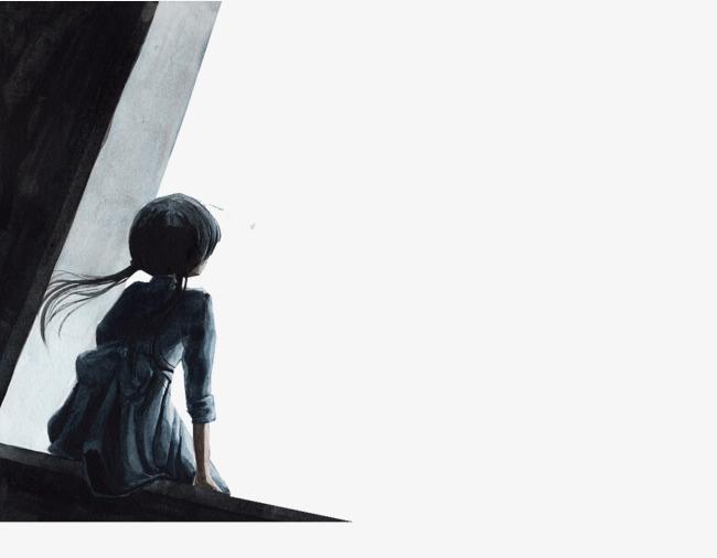 Manga Girl Silhouette.