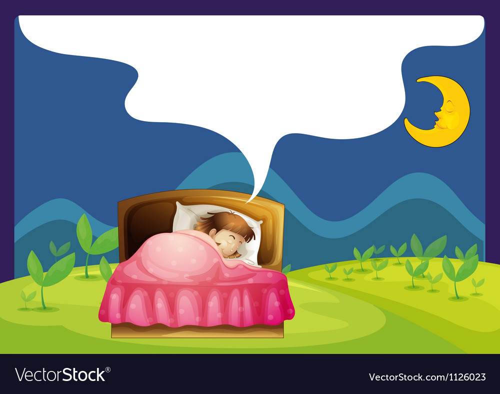 A girl sleeping in a bed.
