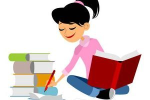Girl studying clipart » Clipart Portal.