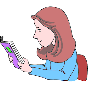 Girl Studying 3 clipart, cliparts of Girl Studying 3 free download.