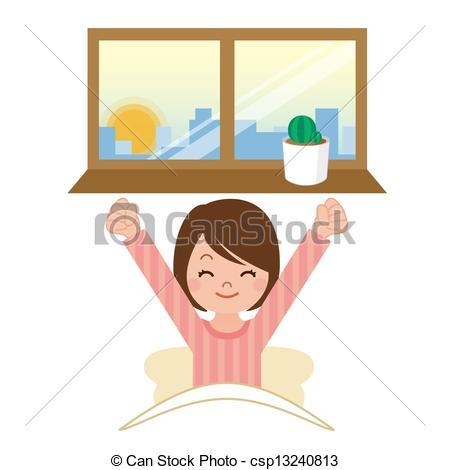 Girl waking up clipart » Clipart Portal.