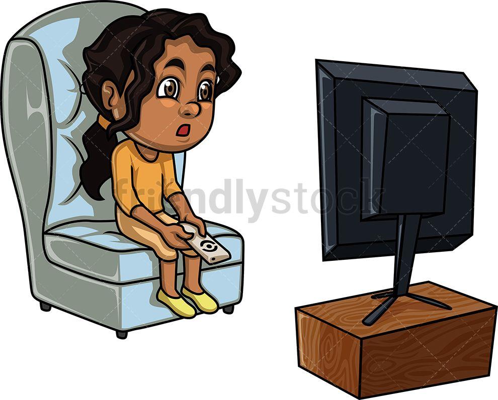 Black Girl Watching TV in 2019.