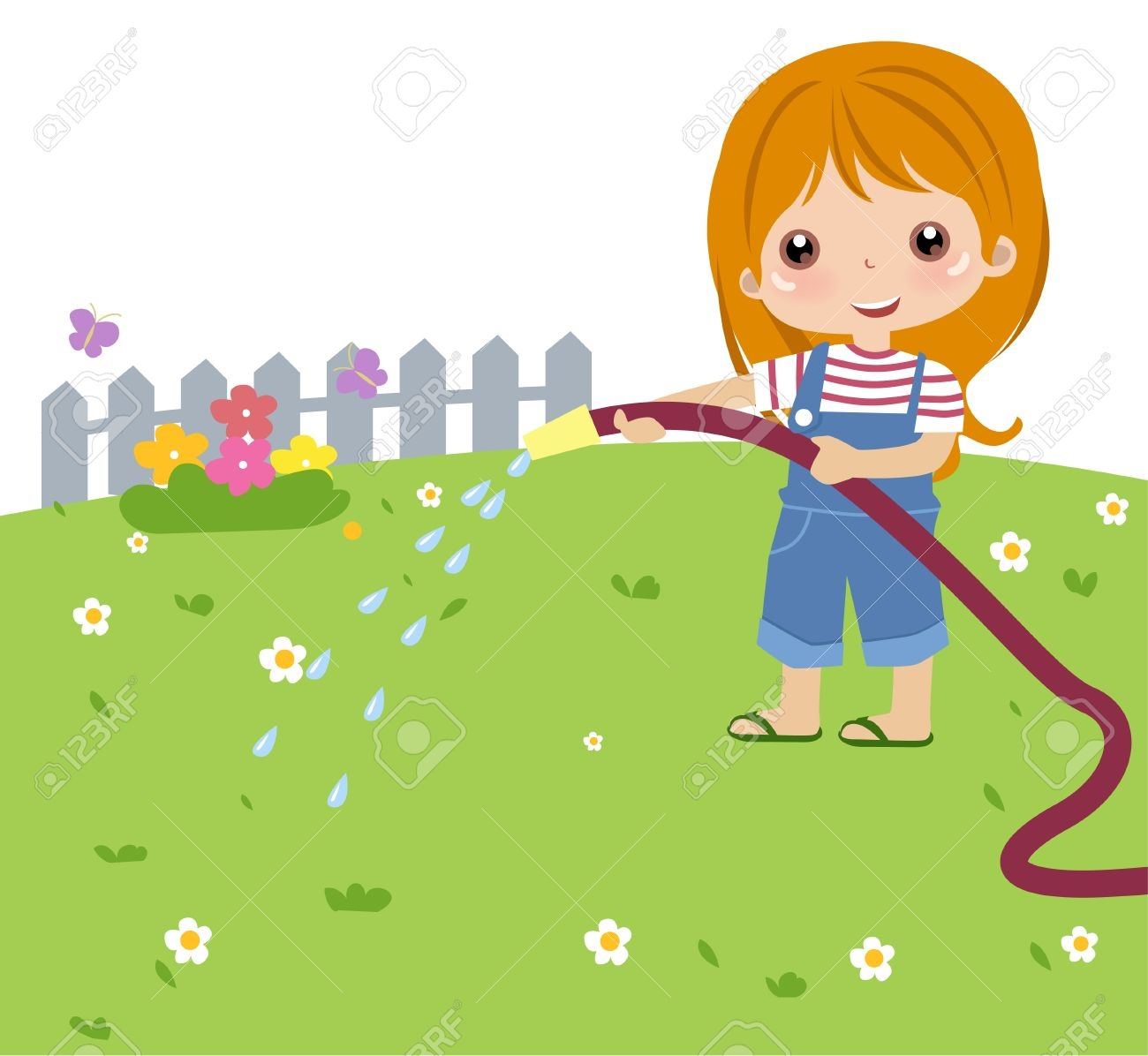 Girl watering plants clipart 10 » Clipart Station.