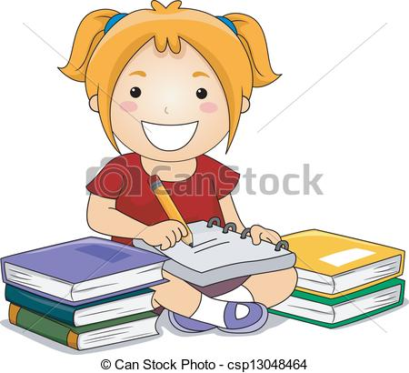 Girl writing clipart 3 » Clipart Station.