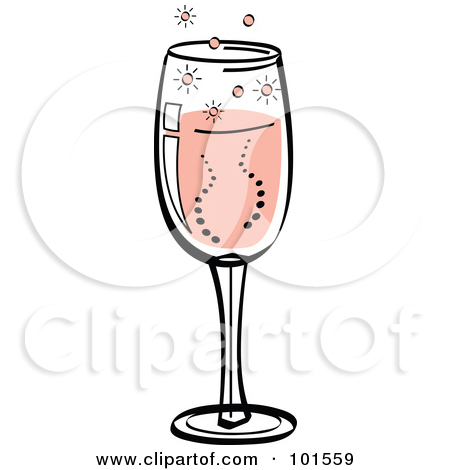 a glass of champagne clipart clipground