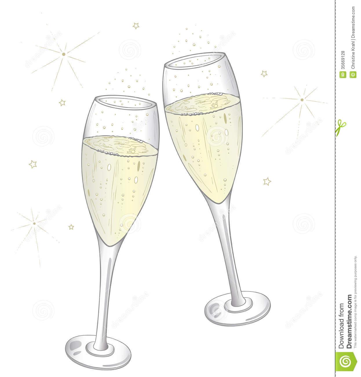 Free clipart champagne glasses.