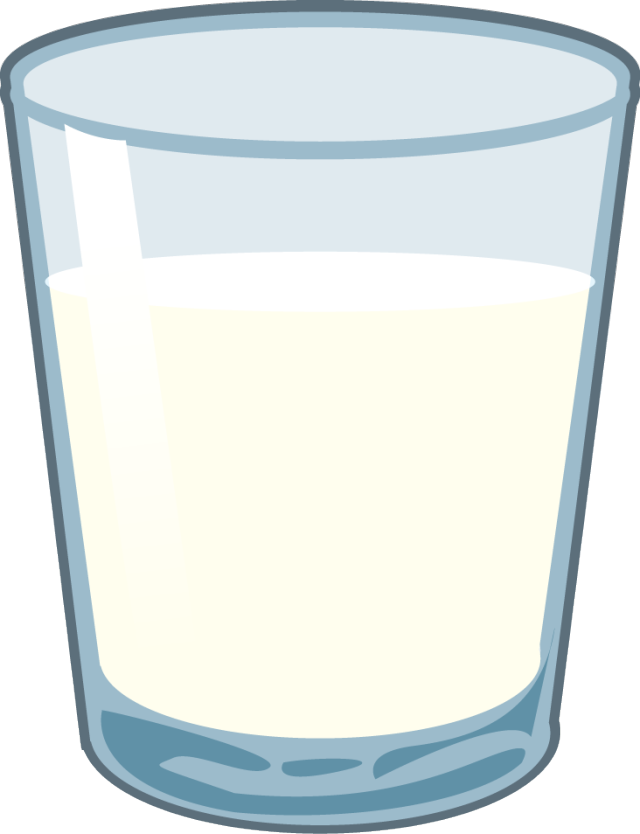 Glass milk clipart.