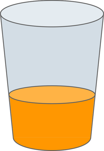 Vector drawing of glass of juice.