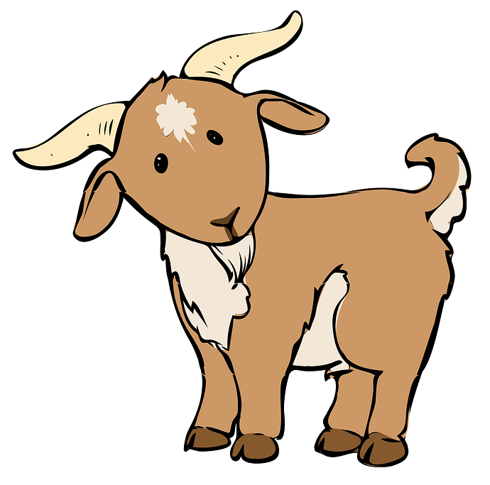 Cartoon Goat clipart. Free download..