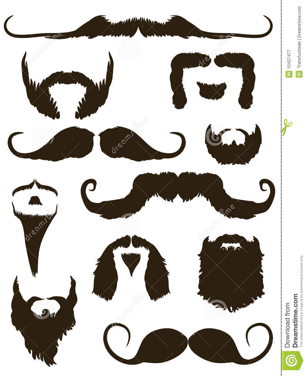 Mustache and goatee clipart.