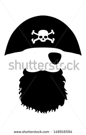 Pirate beard clipart.