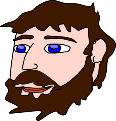 Beard and mustache clipart.