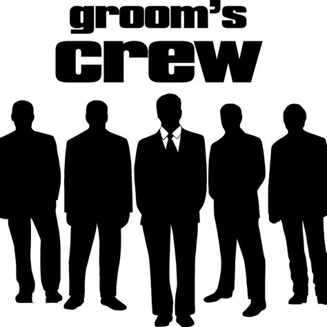 Grooms crew printed by www.Facebook/ Theclearspot.