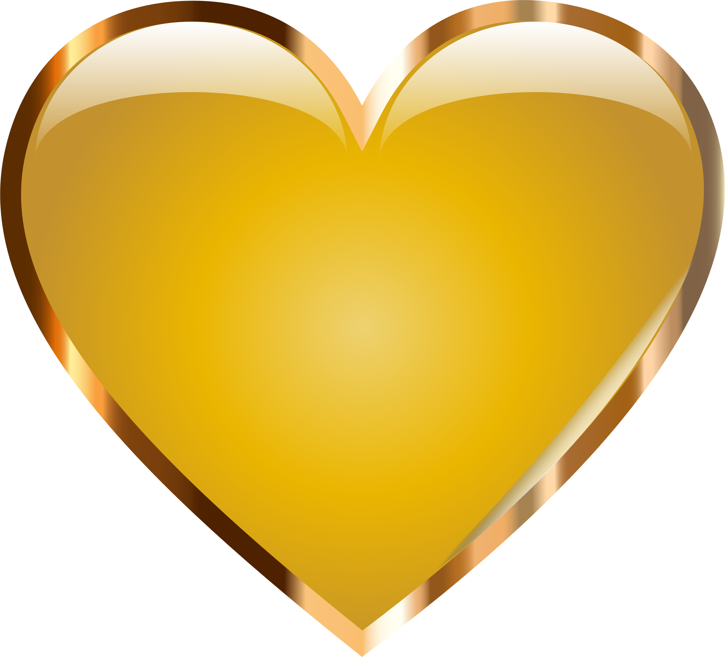 Gold Heart by @GDJ, A gold heart based on the original., on.