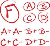 B Grade Clip Art.