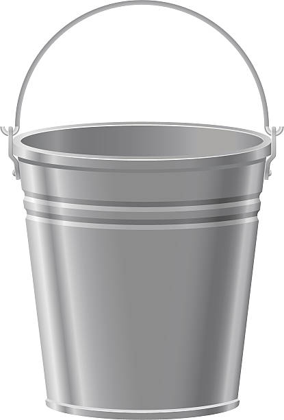 Metal Bucket Clipart.