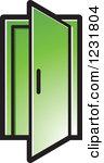 A green door clipart #19