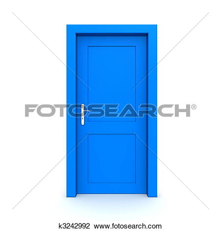 Stock Illustration of Closed Single Green Door k2546529.