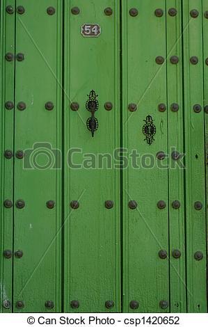 A green door clipart #8